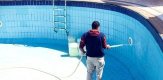 How Do You Soda Blast a Swimming Pool?