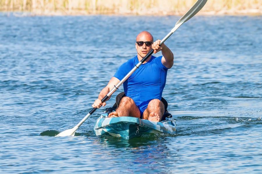 Guy on a kayak