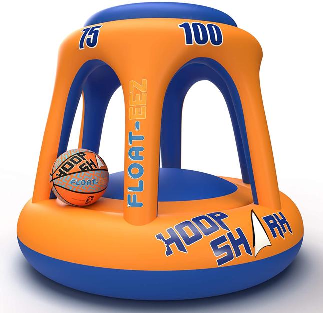 Hoop Shark Swimming Pool Basketball Hoop Set by FLOAT-EEZ