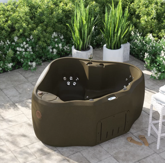 AquaRest Spas Premium 300 2-Person 20-Jet Plug and Play Hot Tub with Stainless Steel Heater