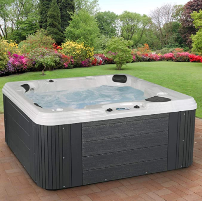 Essential Hot Tubs 50 Jets Polara Sterling Silver Shell